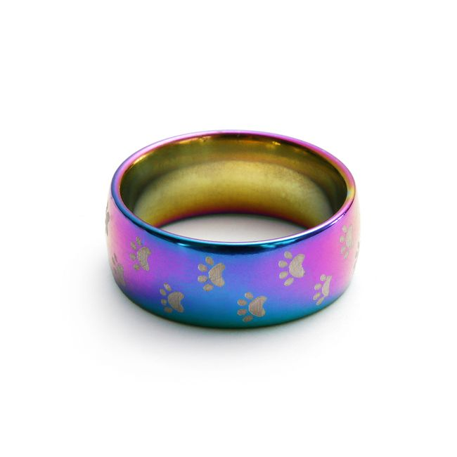 Duhový prstýnek s tlapičkami - 1 kus-9 1