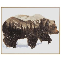 DIY slika po brojevima - medved i šuma