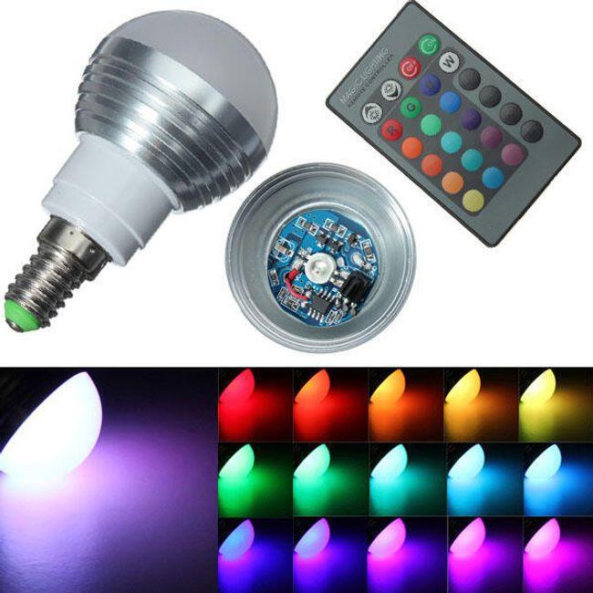 3 V višebojna LED sijalica (utičnica E14) 1