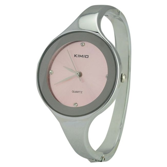 Nowoczesny damski zegarek na rękę od firmy KIMIO - oferujemy różne kolory tarczy 1