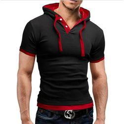 Мъжка тениска с качулка