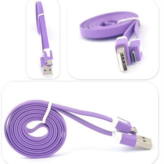 Cablu de date și încărcare Micro USB  - 1m 1