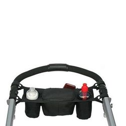 Организьор за дръжката на количката - черен цвят
