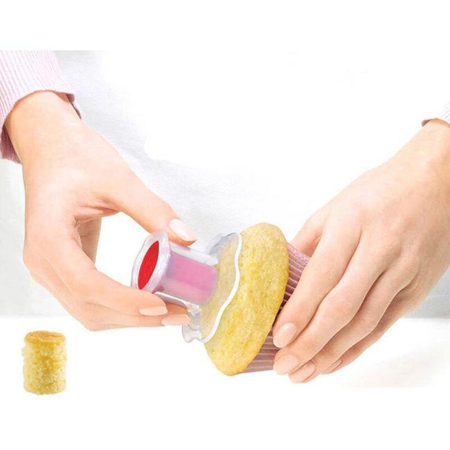 Pomůcka pro odstranění středu z muffinu - 2 kusy 1