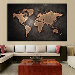 Slika sa mapom sveta - više boja