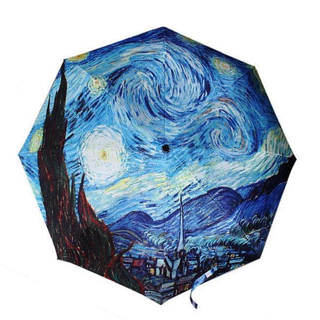 Umbrelă cu motiv de pictură nocturnă 1