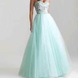 Длинное платье без бретелек, цвет ледяной ментол
