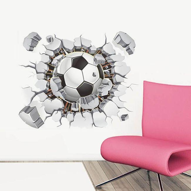 Futbol hayranları için 3D duvar çıkartması 1