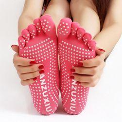 Prstové ponožky na cvičenie - ružová
