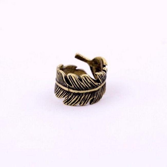Pierścień w kształcie piórka - styl vintage 1