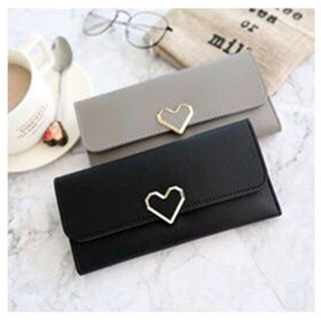 Elegáns női pénztárca szívvel - 7 szín