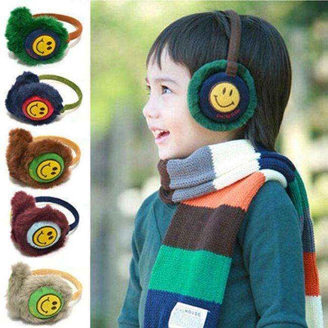 Zimní dětské chrániče na uši v 5 různých barvách 1