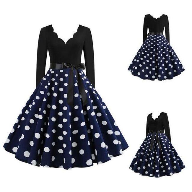 Damska sukienka z długimi rękawami D68 1