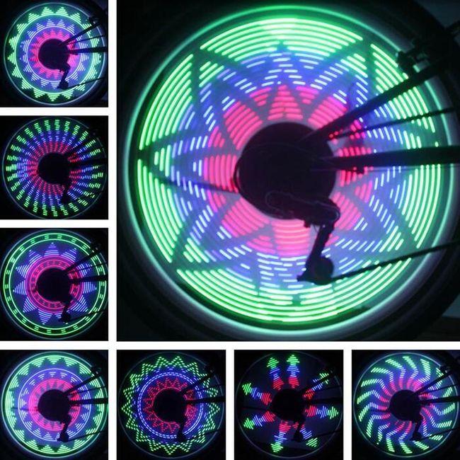 LED luč na žbicah kolesa 1