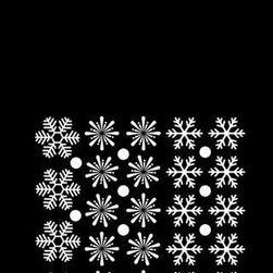 Комплект снежинки за прозорец