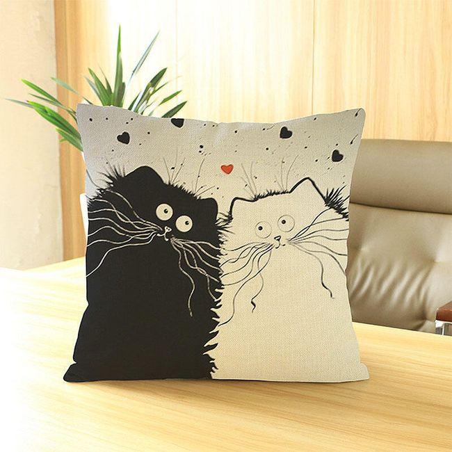 Față de pernă cu pisici nebune 1