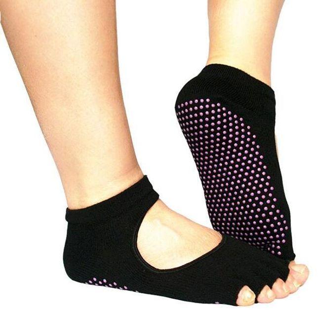 Противохлъзгащи чорапи за йога 1