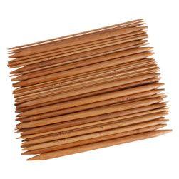 Dwustronne bambusowe druty do dziergania - komplet 75 sztuk 15 wielkości