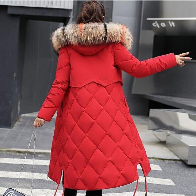 Dámský zimní kabát Angelica - Červená-XL 1