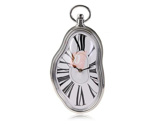 Stylové hodiny na zeď s římskými číslicemi - stříbrné 1