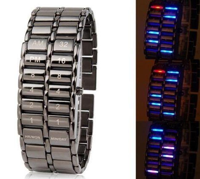 Pánské LED hodinky z chirurgické oceli 1