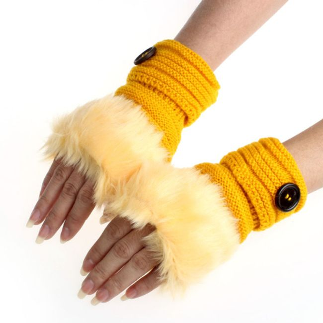 Dámské rukavice s kožíškem - b 1