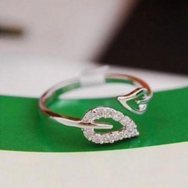 Gyűrű levelekkel - 2 színben 1