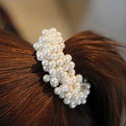Gumka do włosów ze sztucznymi perłami
