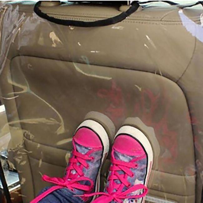 Průhledný kryt na zadní stranu sedačky do auta - 2 barvy 1