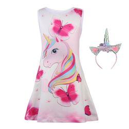 Haljina za djevojčice sa trakom za kosu Helssie