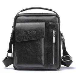 Мъжка чанта за през рамо LXN003 - Черно