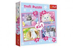 Puzzle 4v1 Mačacie zábava 28,5x20,5cm v krabici 28x28x6cm RM_89134330