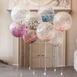 Balonska dekoracija s konfeti - 10 kosov