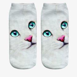 Дамски чорапи с котешки печат