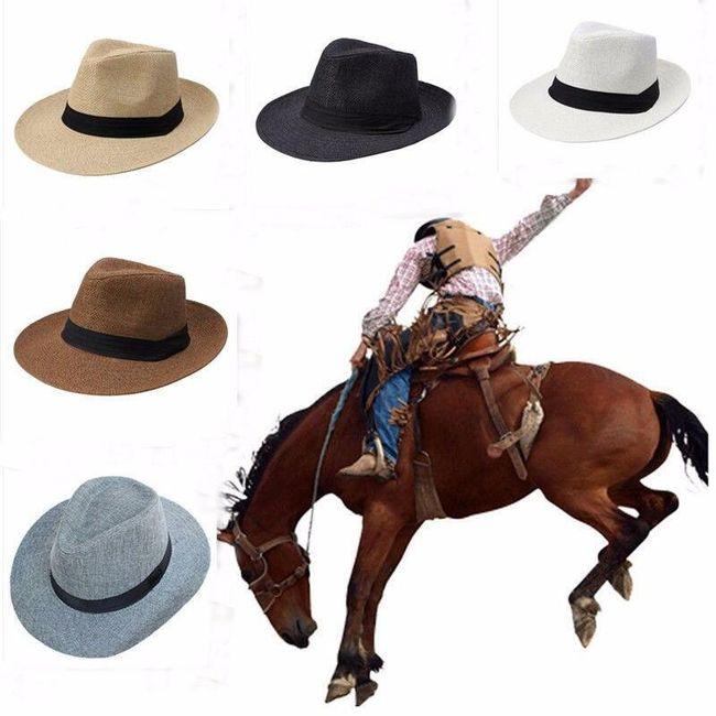 Широкая соломенная шляпа для мужчин и женцин 1