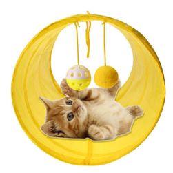 Туннель с мячиками для кошек