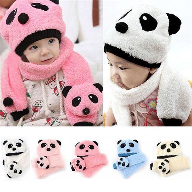 Зимний детский комплект с мотивом панды 1