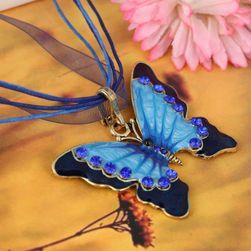 Naszyjnik z motylem w sześciu kolorach