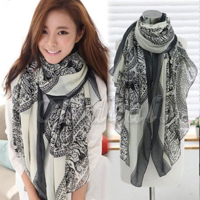 Dámský bavlněný šátek na krk 1