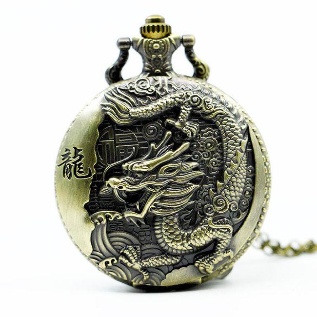 Džepni sat sa motivom kineskog zmaja 1