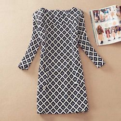 Елегантна дамска роклч с красиви мотиви - 17 мотива / 6 размера