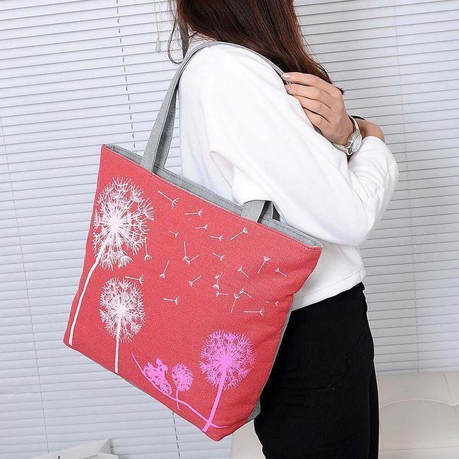 Большая женская сумка с одуванчиками 1