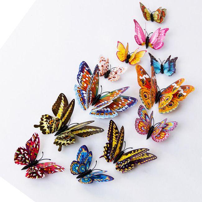 3D svetlucavi leptiri za zid - 12 komada 1