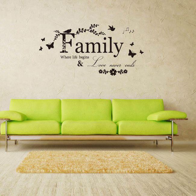Duvar çıkartması - aile teması 1