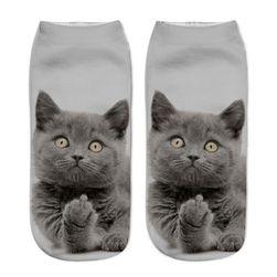 Dámske ponožky s motívmi mačičiek - variant 7
