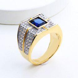 Pánský prsten s modrým kamínkem