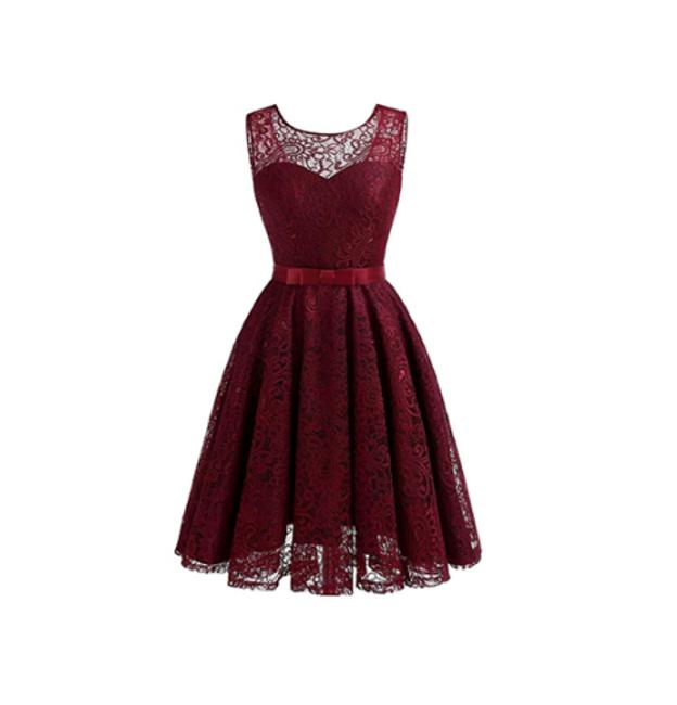 Nádherné šaty bez rukávů - Vínová_velikost č. 3 1