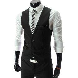 Vestă elegantă pentru bărbați - 3 culori Negru-mărimea 5