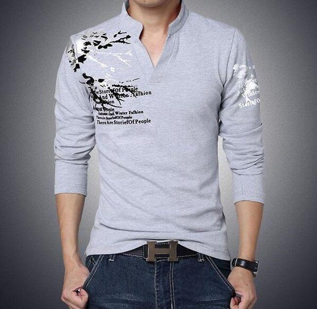 Pánské tričko s potiskem - dlouhý rukáv 1