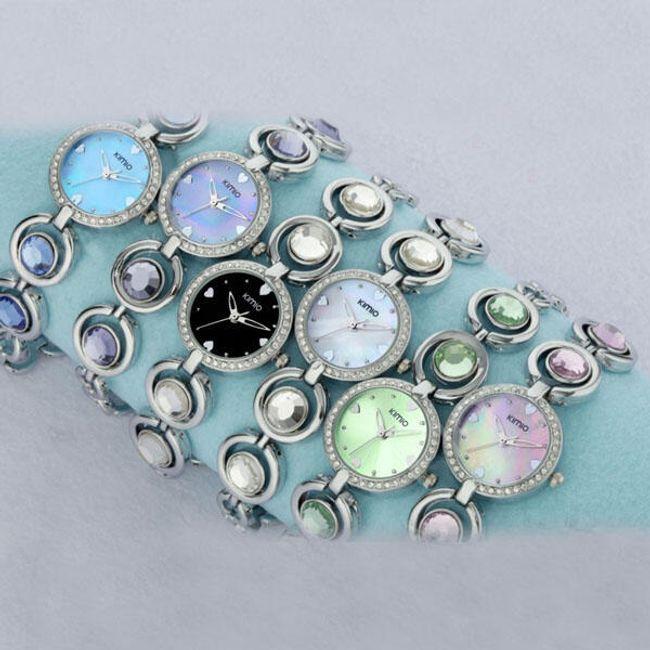 Dámské hodinky s barevnými krystaly - na výběr z 6 provedení 1